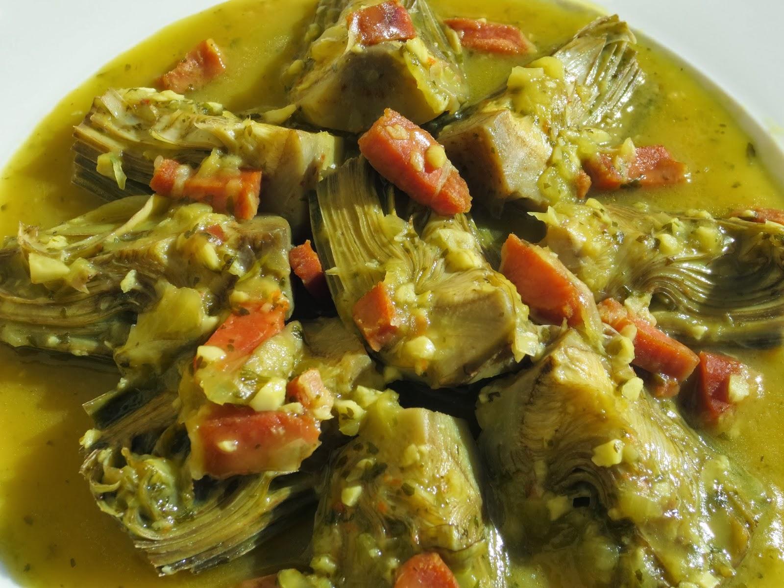 Alcachofas con jam n thermomix - Arroz con alcachofas y jamon ...