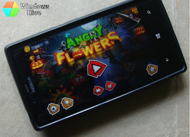 angry flowers HD, Windows Phone, lumia