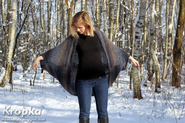 Bardzo prosty sweter zrobiony na drutach