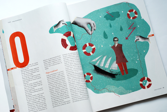 "Some illustrations for the Polish psychological magazine ""Charaktery"" (January 2013). The text concern resilience, fortitude and efficincy."