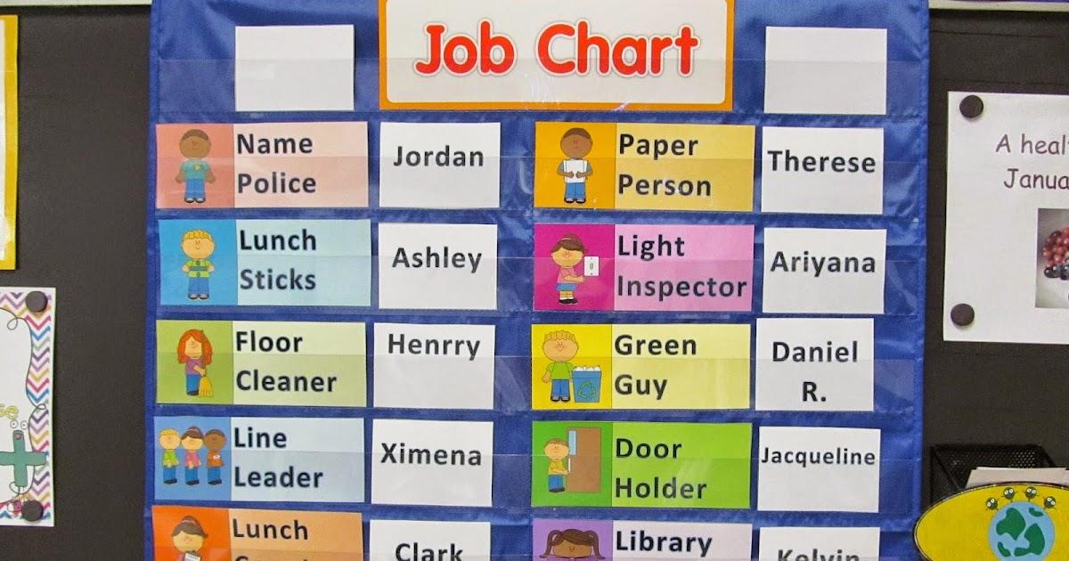 2 happy teachers classroom job chart makeover