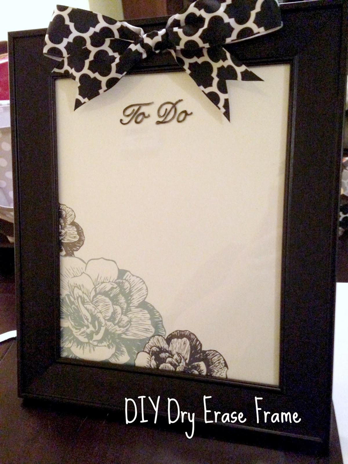 Another Crafty Day: Twelve Crafts of Christmas: DIY Dry Erase Frame