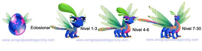 imagen del crecimiento del dragon libelula