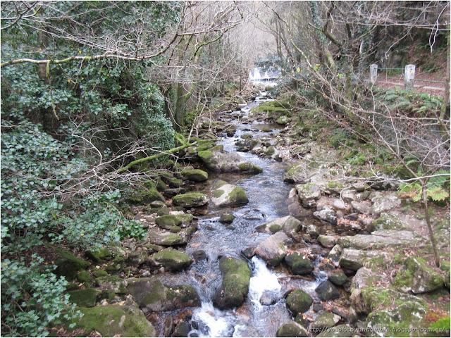 el río después de la cascada