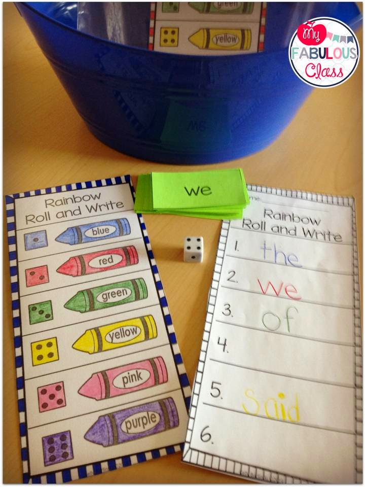 Morning Buckets on Essential Activities Sight Word Get