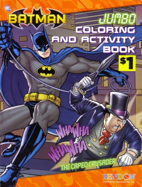Front Cover Of The Caped Crusader Batman Jumbo Coloring And Activity Book