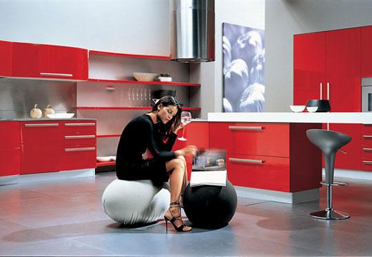Looking for ideas for your home: ห้องครัวสีแดง เกี่ยวข้องกับความ ...