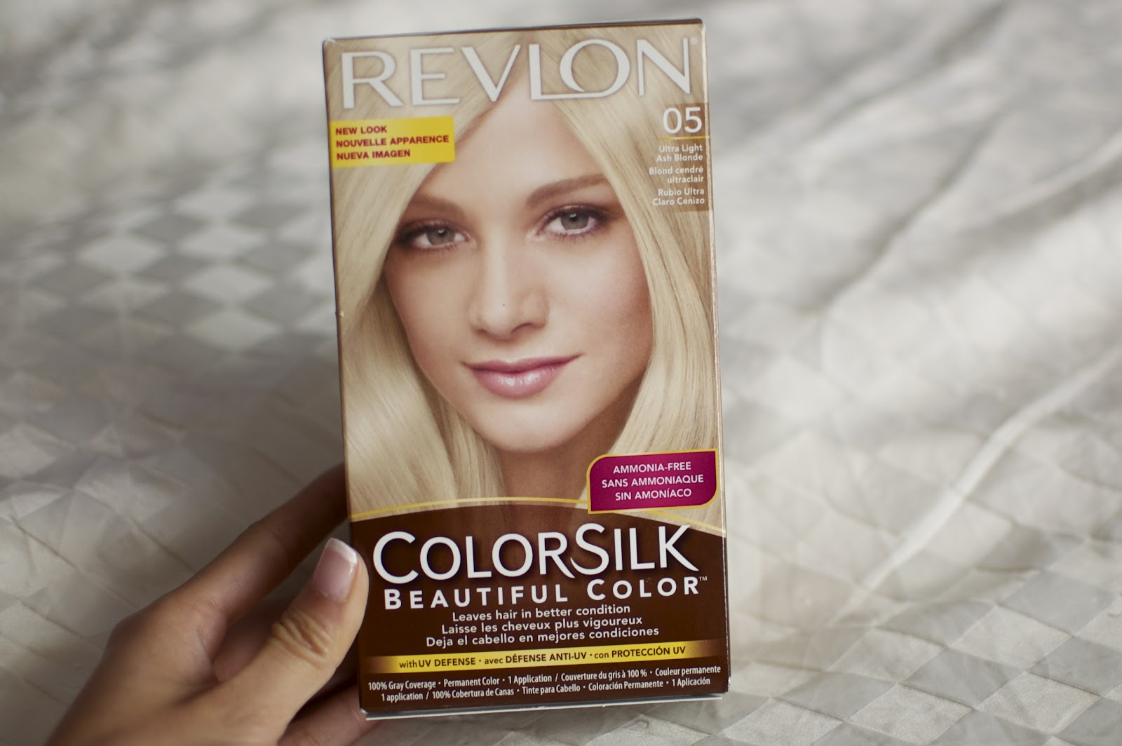 Ash blonde hair dye on