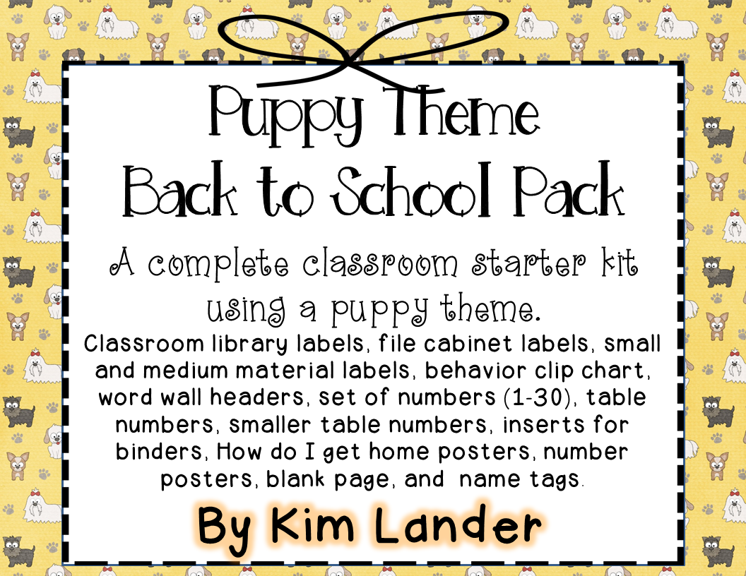 http://www.teacherspayteachers.com/Product/Puppy-Theme-Classroom-Decor-1282993