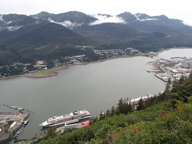 Gastineau Channel, Douglas, and Juneau from Mt Roberts
