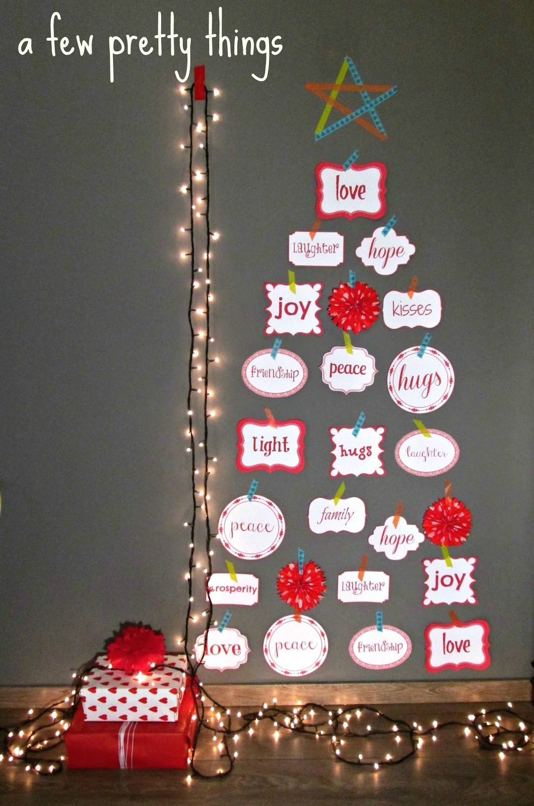 A few pretty things an alternative handmade christmas tree - Christmas tree alternatives beautiful ideas ...