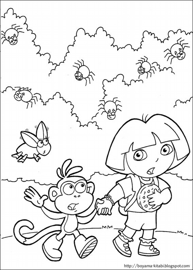 Dora Exploratrice Coloring 12 | The Coloring Pages - The Coloring ...