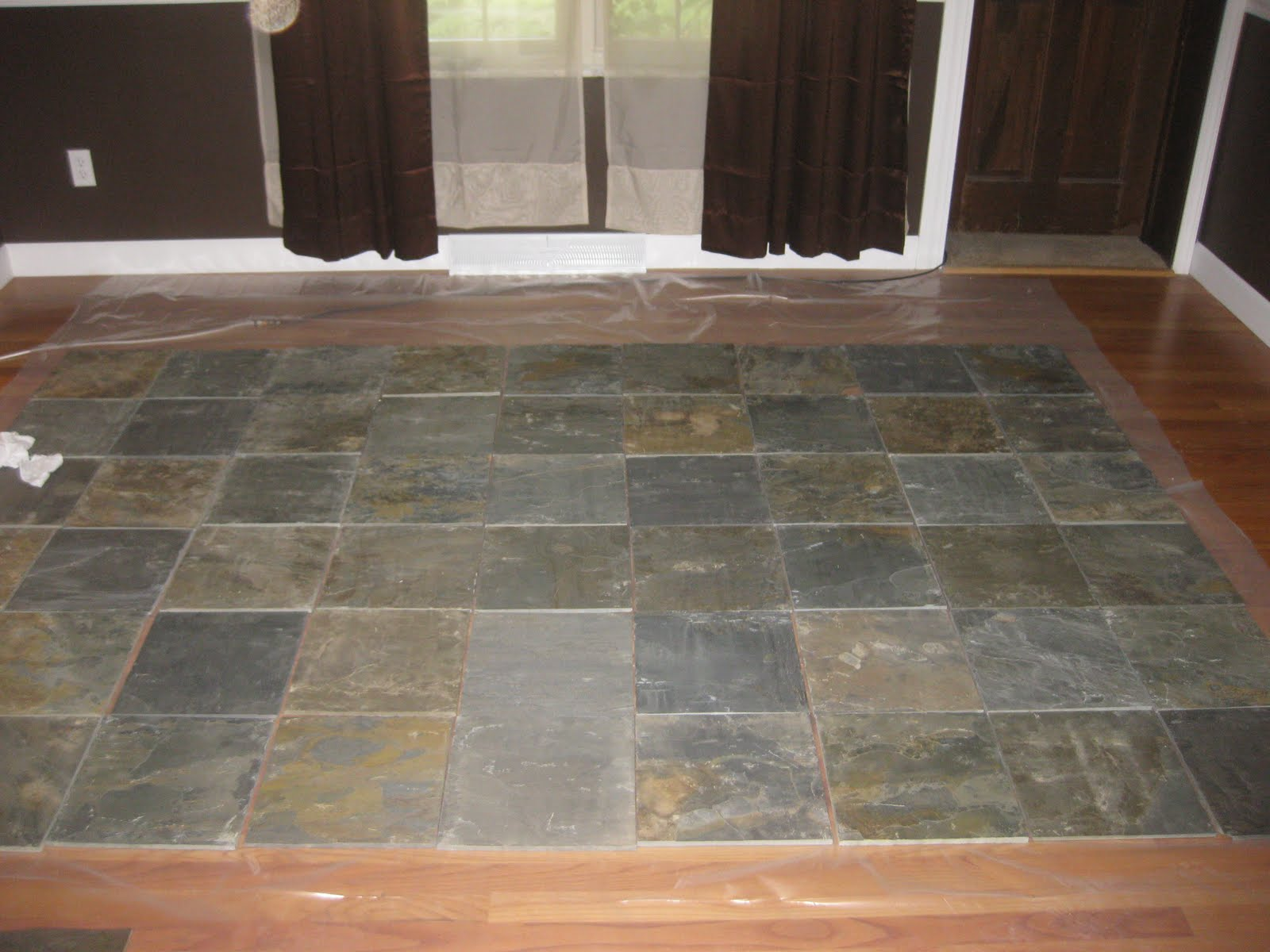 Linoleum On Bathroom Floor : New and improving master bath has a floor