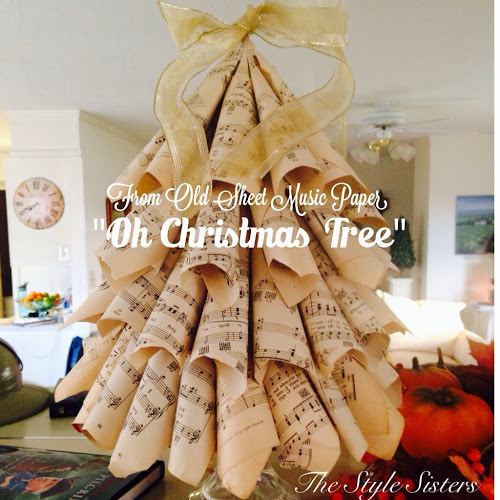 Old music sheet Christmas Tree