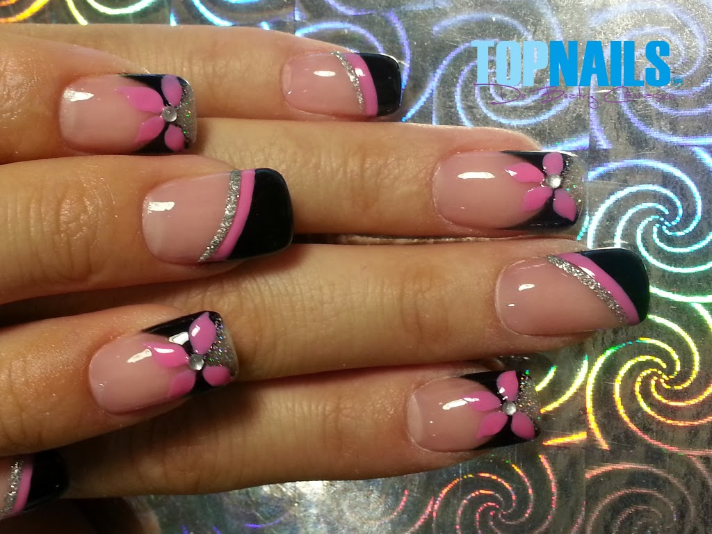 uas acrlicas con decorado y diseo en esmalte permanente with decoracion de uas gel