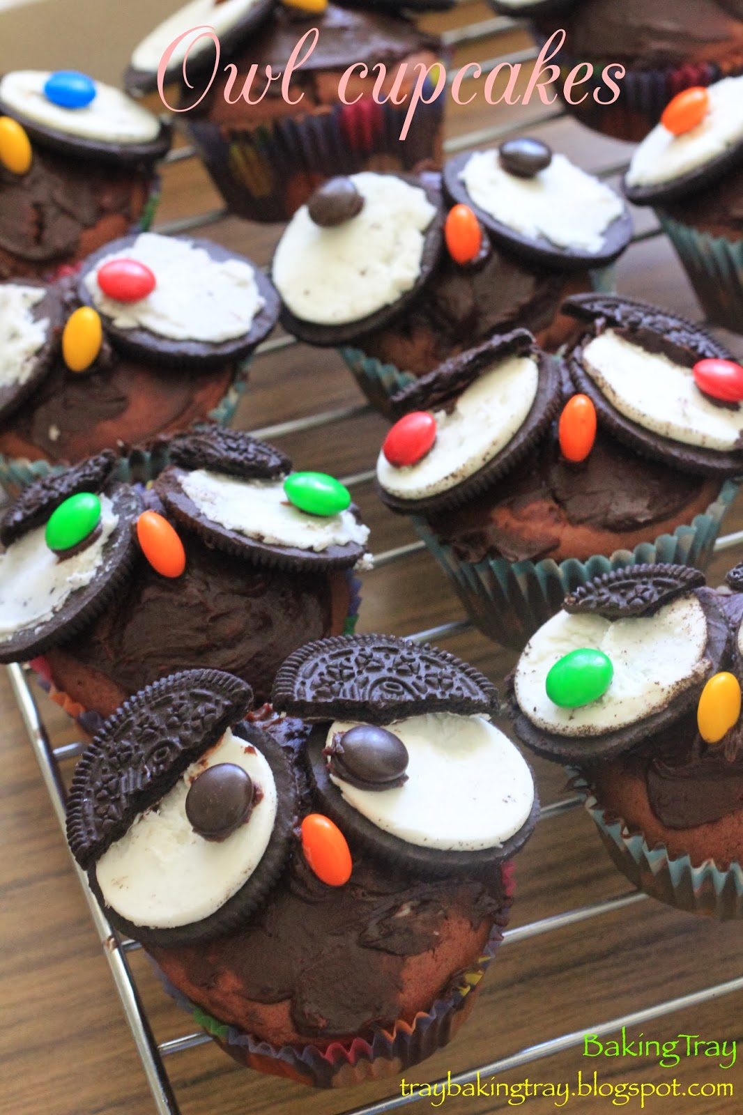 BAKING TRAY Baking with kids Owl cupcakes and Cake pops