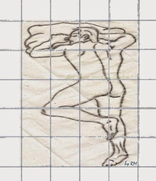Quadriculando o desenho para ampliar