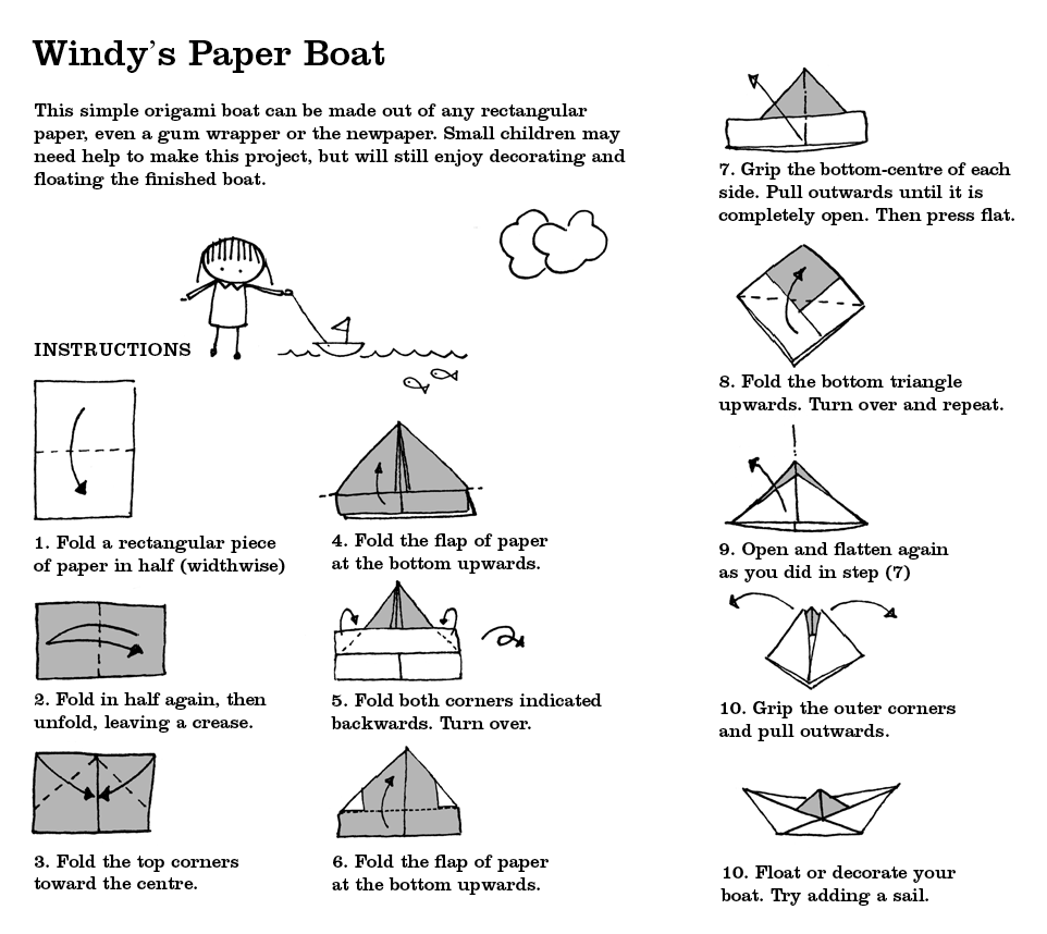 paper boats And making paper boats how can anyone ever get over that wasn't it so much  fun now, while the raindrops keep flooding the roads outside,.