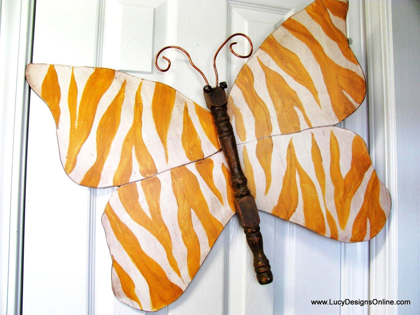 New yellow zebra butterfly art