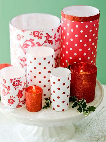 Новогодние идеи декора свечей и подсвечников - Праздничные оформления, декор - Каталог статей - Дизайн интерьера в Пензе - Частн