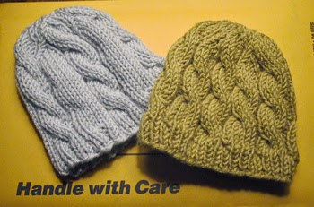 Knitting Pattern Cable Hat Baby : SHE MAKES HATS: knit hats for baby boys
