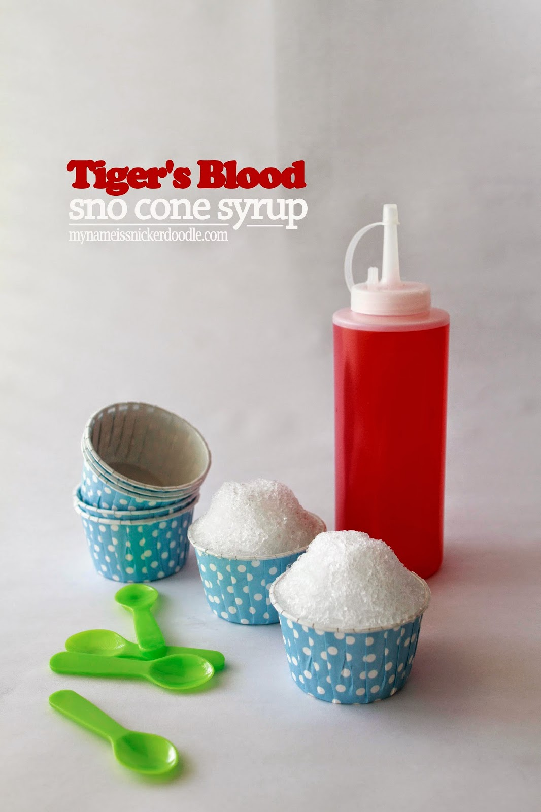 Tiger's Blood Sno Cone Syrup | mynameissnickerdoodle.com