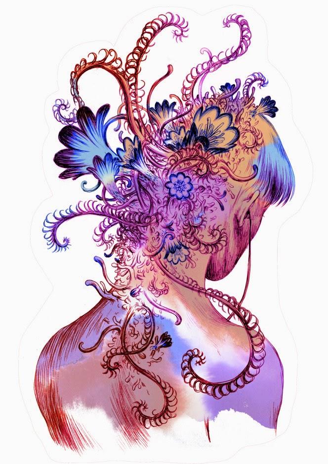 """""""ASMR"""" by illustrator Joanna Krótka. Website: http://www.joannakrotka.com DeviantArt: http://asiulus.deviantart.com"""