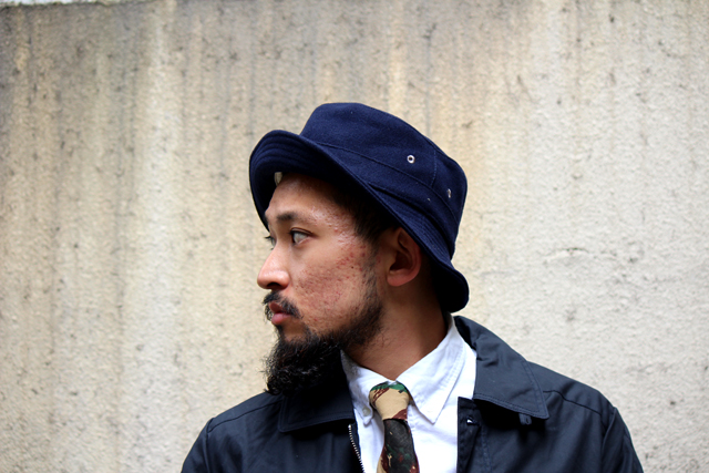 universalworks topcoat 14fw 14aw jacket buckethat the hillside necktie