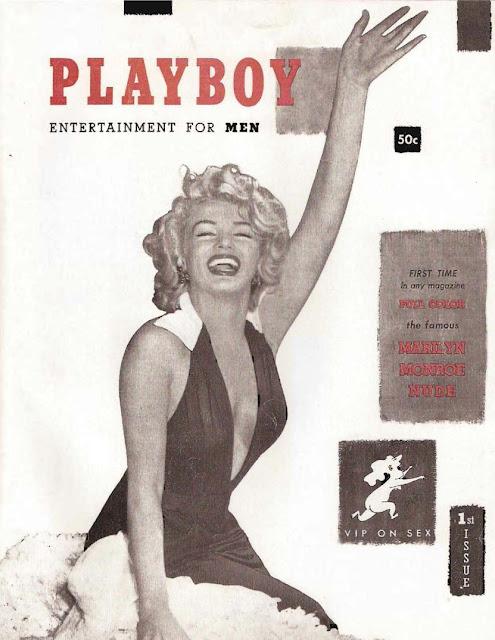 Confira as fotos da primeira Palyboy do mundo, Marilyn Monroe, capa da primeira Playboy Americana de dezembro de 1953!