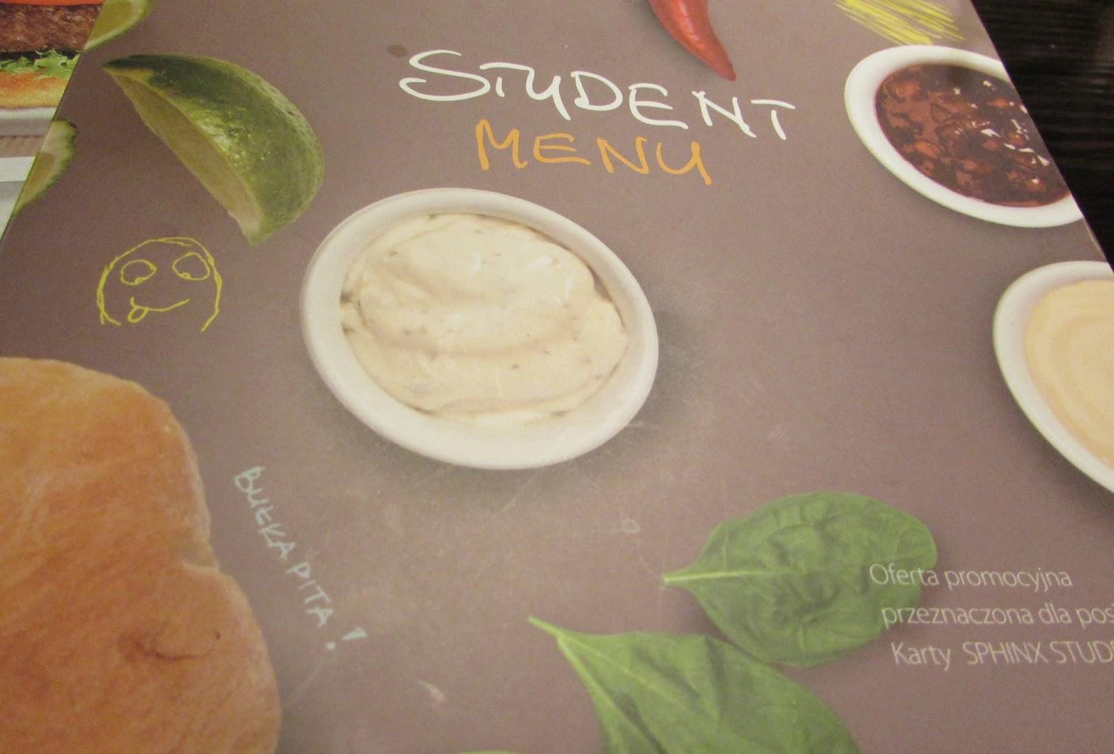 menu dla studentów w Sphinx