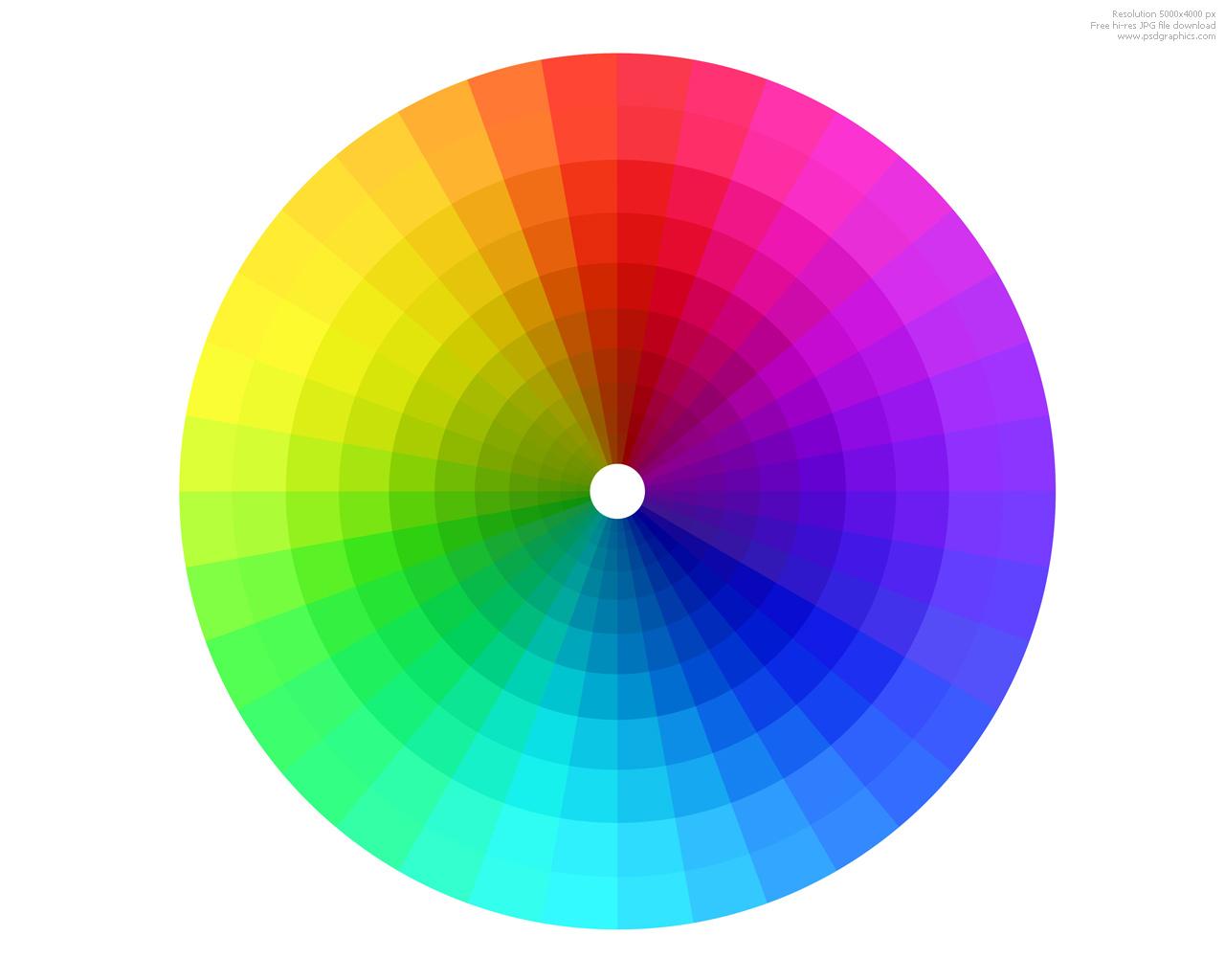 Fotograf a teor a del color for Gama de colores vivos