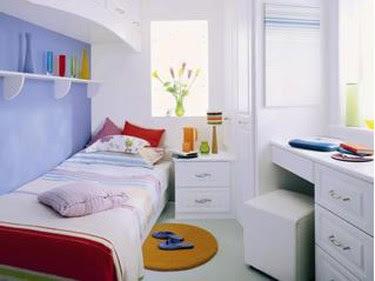 habitación pequeña para adolescentes