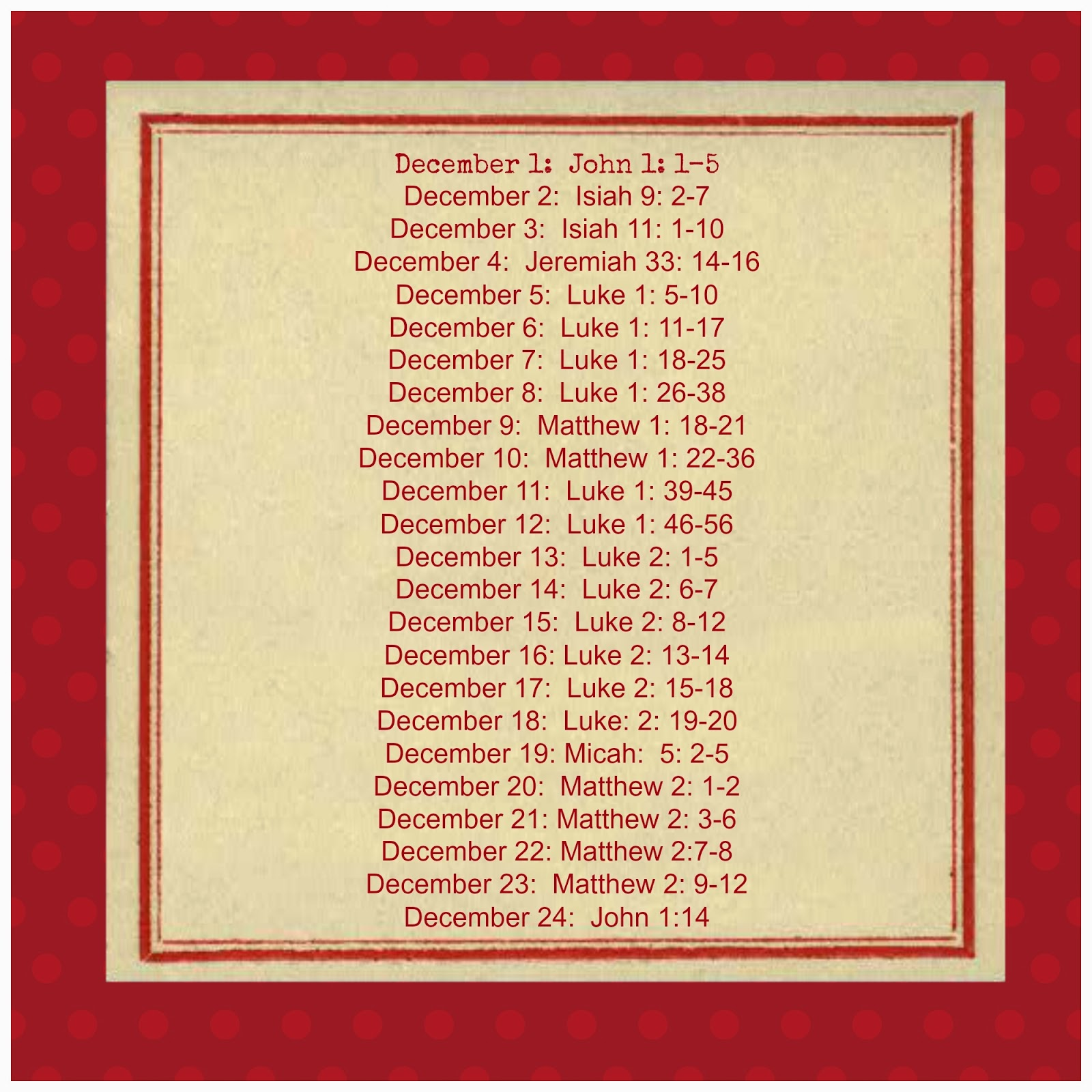 Adorned From Above: Christmas Bible Verses Countdown to Christmas