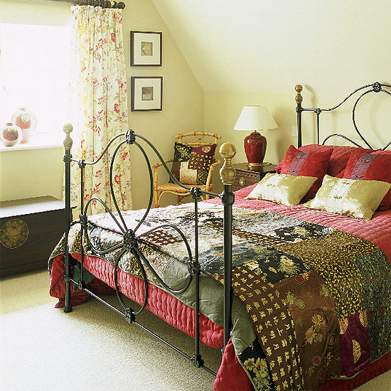 New home interior design stylish country bedroom - Country style bedroom ...