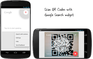 Scan the QR code with the Google search widget on Android