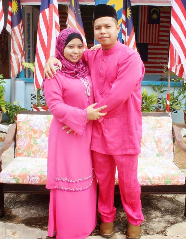baju raya sedondon suami isteri