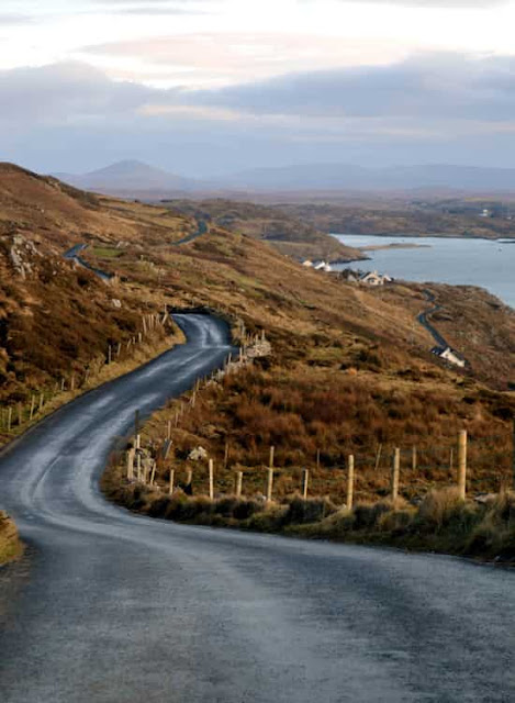 Coastal Road in Connemara, Ireland