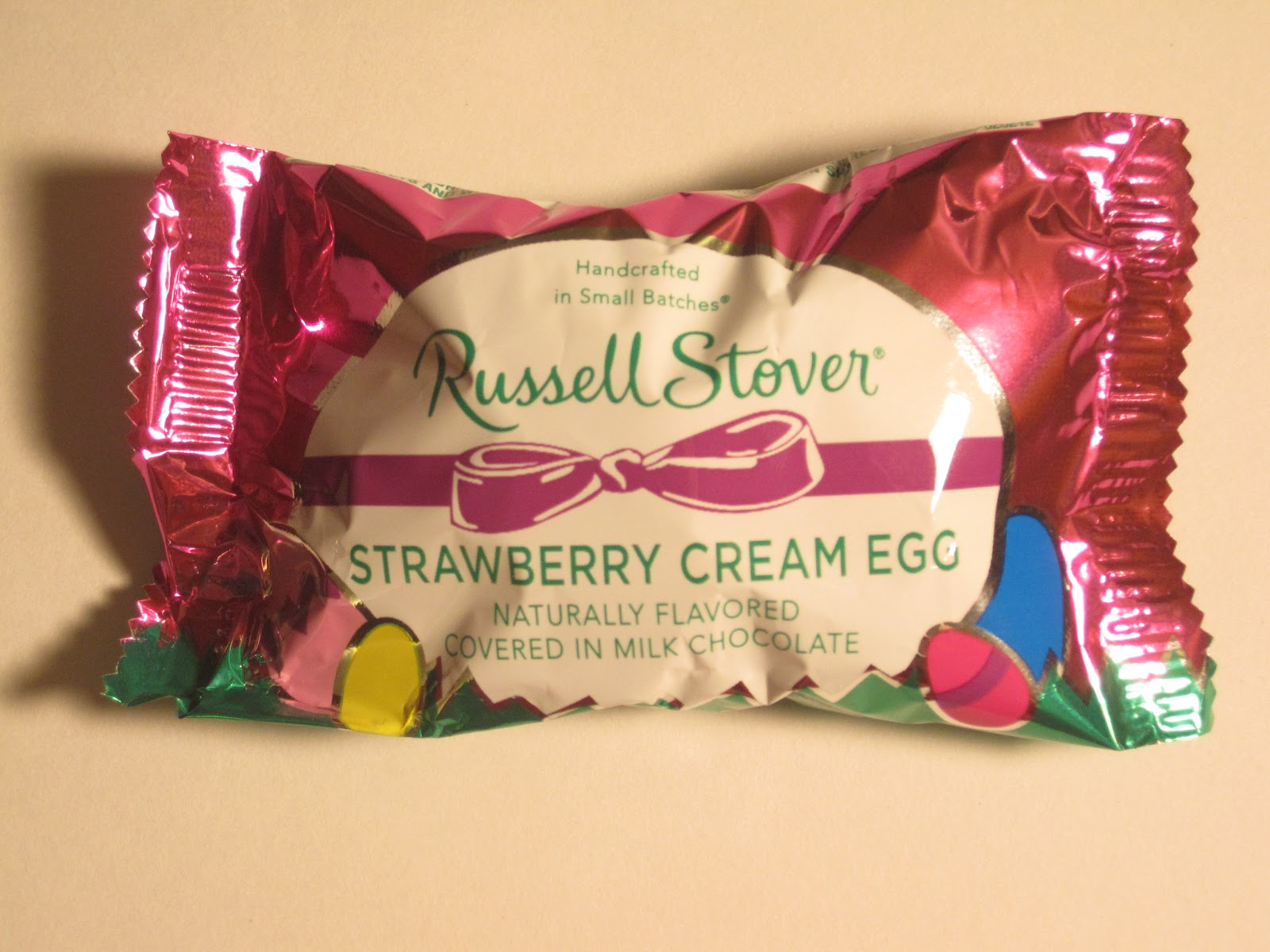 walking the candy aisle: russell stover strawberry cream egg review