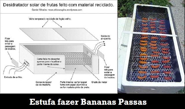 Estufa caseira para fazer Banana Passas feito com material reciclado