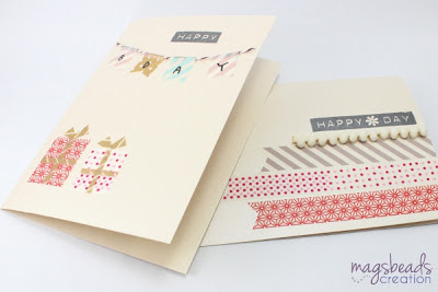 Washi Tape Cards - magsbeadscreation.com