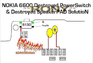 nokia 6600 power on off button ways jumper