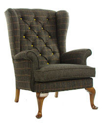 Poltrona inglese TWEED Patchwork COLLINS & COOPER