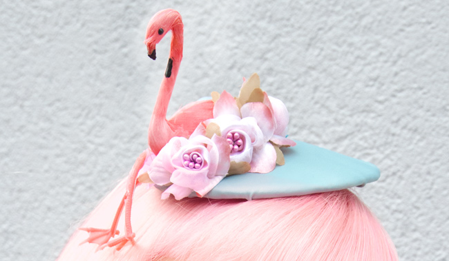 Jazzafine, Flamingo hat, fascinator