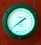 "LEVEL  Indicator ITT BARTON / Meriam I (Oxygen service) Meriam Instrument , Dial Gauge  0~200"" H2O"