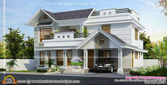 Nice classic style villa exterior