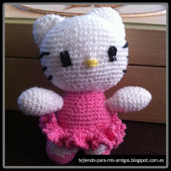 Amigurumi De Hello Kitty : Tejiendo para mis Amigos: Amigurumi Hello Kitty Bailarina