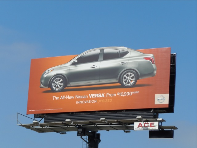 Nissan Versa car billboard LA