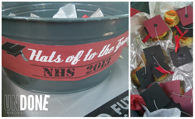 {The UNDONE Blog} Red and Black Graduation Decorations