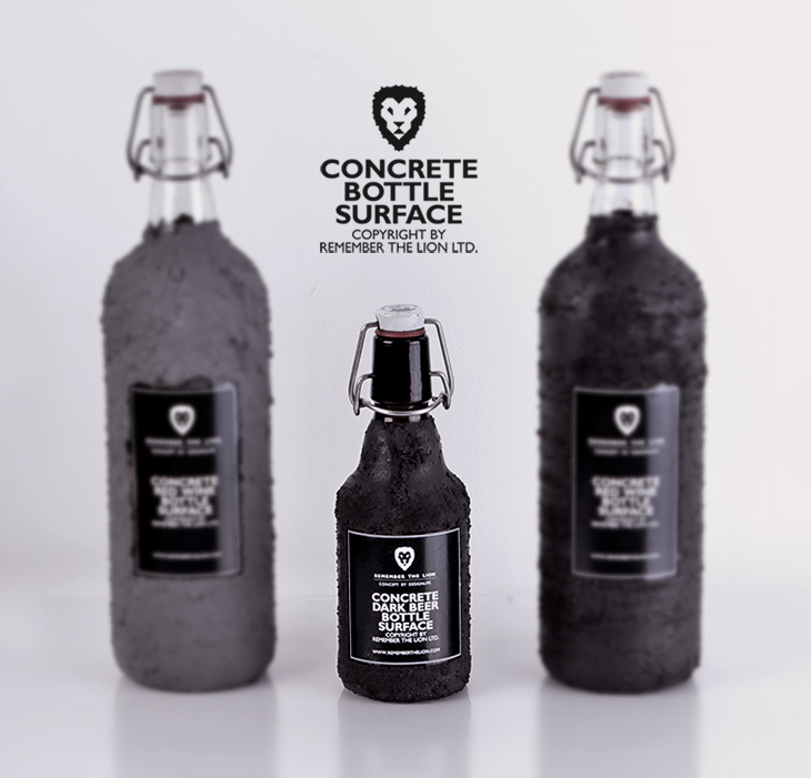 Concrete Bottle Surface Packaging