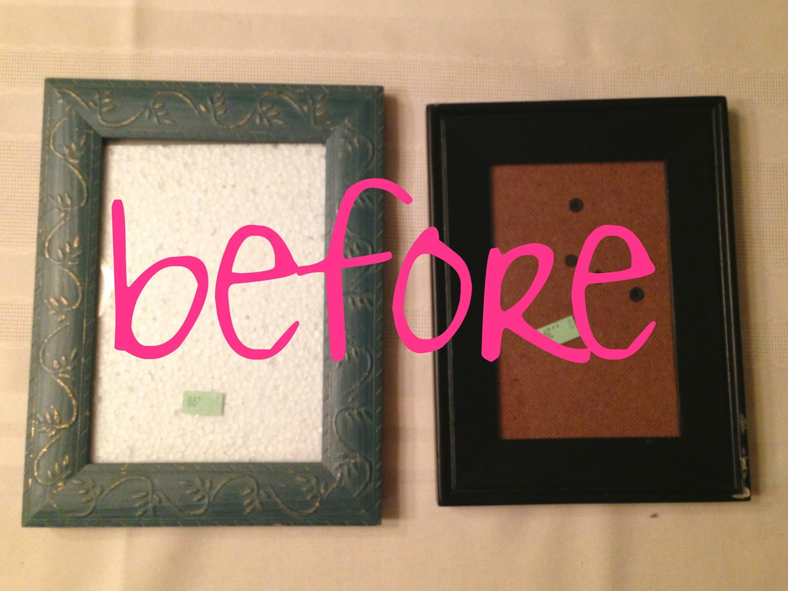 Je m 39 appelle molly diy sea glass frame for What to do with old frames